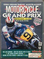 1990 Australian Motorcycle Grand Prix Race Program Phillip Island Gardner Doohan