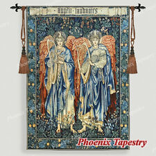 "William Morris Angeli Laudantes Medieval Tapestry Wall Hanging, 47""x33"", UK"