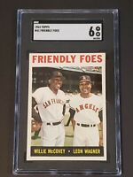 1964 Topps #41 Willie McCovey Friendly Foes SGC 6 Newly Graded PSA