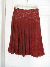 Moulinette Soeurs Nolana Lace Overlay Rust Orange Skirt Size 2  Anthropologie