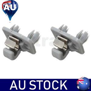 2*Sun Visor Clip Holder Hook Bracket Replacement For Audi A1 A3 A4 Q3 Q5 TT Grey