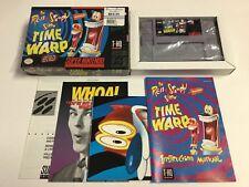 Ren and Stimpy Show Time Warp Super Nintendo SNES CIB 100% Complete Nr Mint