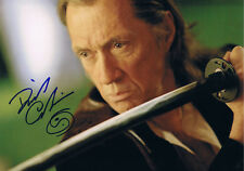 "David Carradine 1936-2009 KILL BILL autograph 8""x12"" photo signed IN PERSON"
