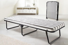 Folding Guest Single Bed With Mattress Compact Put You Up Spare Bed