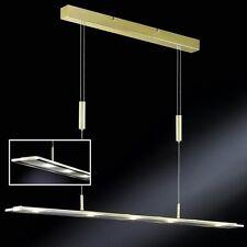 LED Balken Hängelampe Höhenverstellbare Pendelleuchte LED Messing poliert
