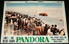 auto da corsa nel cinema PANDORA fotobusta originale 1961