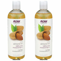 2 x NOW FOODS 100% Pure Sweet Almond Oil 16 Oz, Pure Moisturizing Oil, FRESH