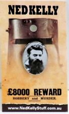 79004 NED KELLY STUFF COLLECTABLE PIN BADGE 4 of 20 OVAL PORTRAIT OF NED