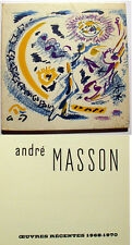 MASSON/CAT EXPO GALERIE LOUISE LEIRIS/1970/RARE/DRAEGER