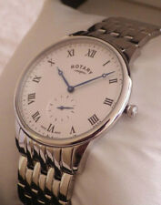 NEW Rotary Men's GB03638/06 Swiss Made Stainless Steel Bracelet Watch RRP £235