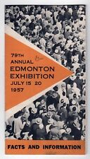 1957 EDMONTON EXHIBITION Canada ALBERTA Expo AGRICULTURE Fair CANADIAN