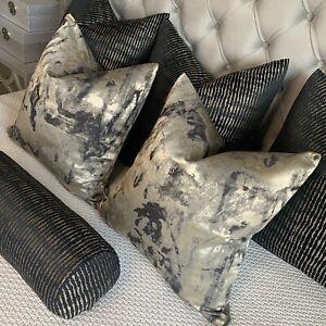 Absolutely Stunning Cushion Cover Black & Gold Clarke & Clarke Fabric Nero