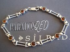 SILPADA RARE RETIRED Sterling Silver 925 Tennis Amber Cabochon Bracelet, B0892
