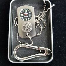 Smith and Wesson Dog Tag Watch Silver Carabiner Chain Metal Storage Box