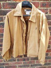 Men's PGA Golf Tour marron en daim synthétique Harrington Bomber veste/manteau taille L