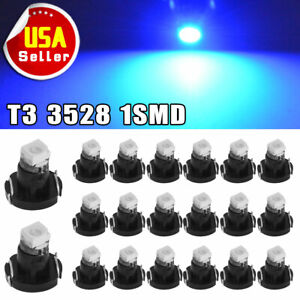 20x Blue T3 Neo Wedge SMD LED Light Instrument Cluster Panel Lamps Gauge Bulbs
