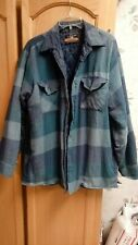 Back Packer mens flannel plaid insulated long sleeve outdoor shirt
