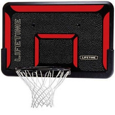 Indoor Wall Mounted Basketball Back Board Rim with Impact Hoop Net Sports Goal