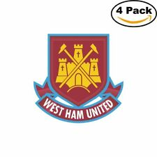 West Ham United FC Soccer FC Logo 4 Stickers 4X4 Inches