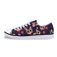 Casual Canvas Shoes Women Lovely Cat Sneakers Girls Lace Up Walking Trainers