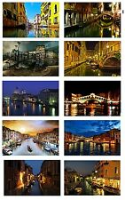 VENICE BY NIGHT ITALY SET OF 10 FLEXIBLE THIN FRIDGE MAGNETS NO UK P&P GIFT NEW