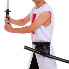 Medieval Men Sword Frog Holster With Belt Rapier Scabbard Lace Up Holder Belt