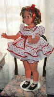 """Miss Shirley Temple 33""""  1984 By """"Dolls Dreams and Love Corp"""" Stand Up and Cheer"""