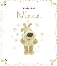 BOOFLE FOR A WONDERFUL NIECE CHRISTMAS CARD NEW GIFT