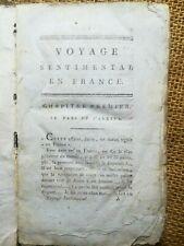 LITTERATURE: Voyage sentimental en France et en Italie, par STERNE - 6675