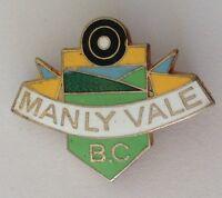 Manly Vale Bowling Club Badge Pin Vintage Lawn Bowls (L31)