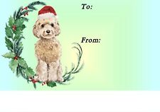 Cockapoo Christmas Labels by Starprint