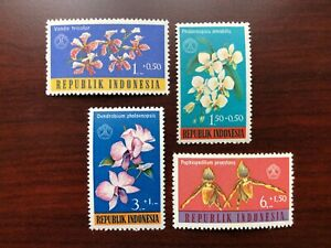 Indonesia 1962 Scott #B146-149 Orchids Flowers Mint NH