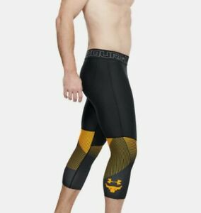 UNDER ARMOUR MEN'S PROJECT ROCK VANISH LEGGINGS BLACK #1321411-NWT