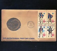 1975 USA Bicentennial First Day Cover with Paul Revere Token