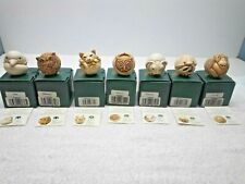 Harmony Kingdom Roly Polys Uk Made Marble Resin Box Figurines Lot Group 7 Total