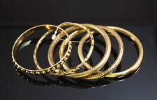 Brass Bijoux Bangles from India Stylish Set of 5 Goldtone