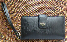 AUTHENTIC FOSSIL MALLORY Leather Wallet Wrislet