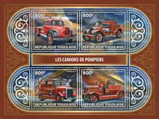 Togo 2017 MNH Fire Engines Trucks American LaFrance Magirus Leyland 4v MS Stamps