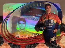 TRIBUTE JEFF GORDON CARD HOLO AUTOGRAPH AUTHENTIC UPPER DECK SPX 1996
