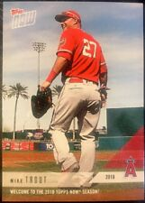 """MIKE TROUT - 2018 Topps NOW """"WELCOM TO THE 2018 TOPPS NOW SEASON!"""" Promo Card"""