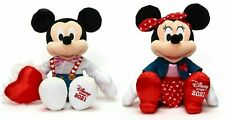 More details for minnie & mickey sweetheart plush soft toy valentines disney store