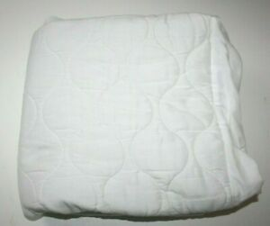 Cotton Waterproof White Crib Mattress Quilted Fitted Protector/Cover