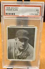 1936 Goudey - CHUCK KLEIN - PSA 5 EX - HOF - Chicago Cubs Star (1520)