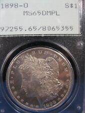 1898-0 MORGAN $1 PCGS MS 65 DMPL OGH  FREE S/H