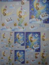 3D A4 Christmas Paper Tole Asleep on the Moon 4 images