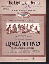 The Lights of Roma 1962 Rugantino English and Italian  Sheet Music