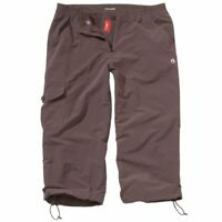 CRAGHOPPERS WOMEN'S NOSILIFE COCOA BROWN HIKING WALKING 3/4 CROP TROUSERS UK6-8