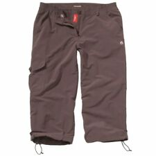 CRAGHOPPERS WOMEN'S NOSILIFE COCOA BROWN HIKING WALKING 3/4 CROP TROUSERS UK8 BN