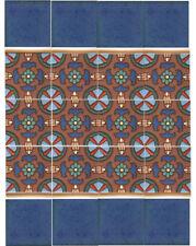 """California Art Deco Tile Khalik 'C' 6""""x6"""" Per SqFt 4 Pcs"""