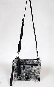 Real Cowhide Cross body Purse Handbag & Shoulder Bag Clutch Cow Leather SB-6973
